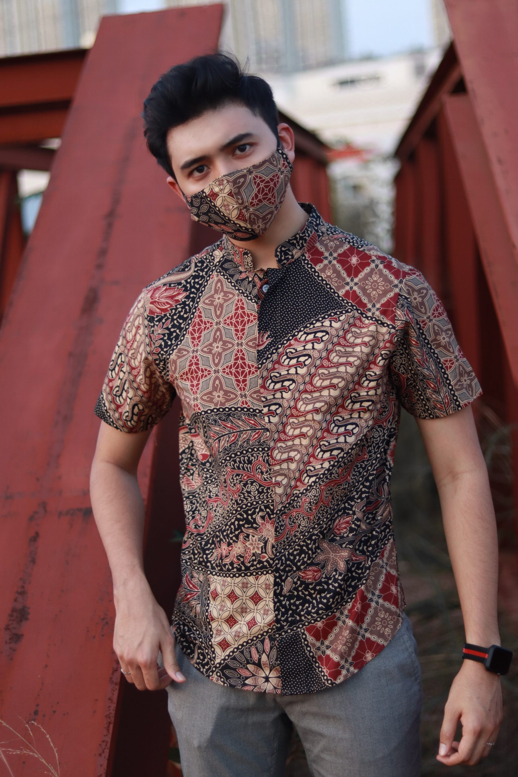 Batik Banded Collar